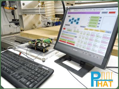 Pulse Train HAT Jog Control of a CNC Machine