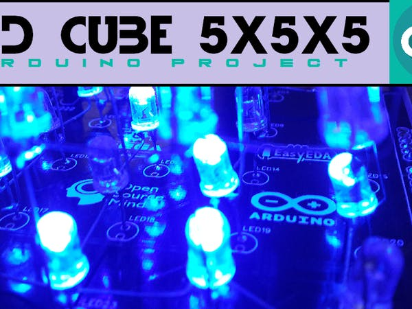 Led Cube 5x5x5 (Arduino Project) - Arduino Project Hub  X X Led Cube Schematic on