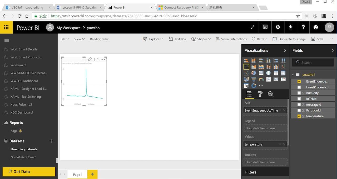 Data Visualization In Power Bi With Bme280 Raspberry Pi Wiringpi Api