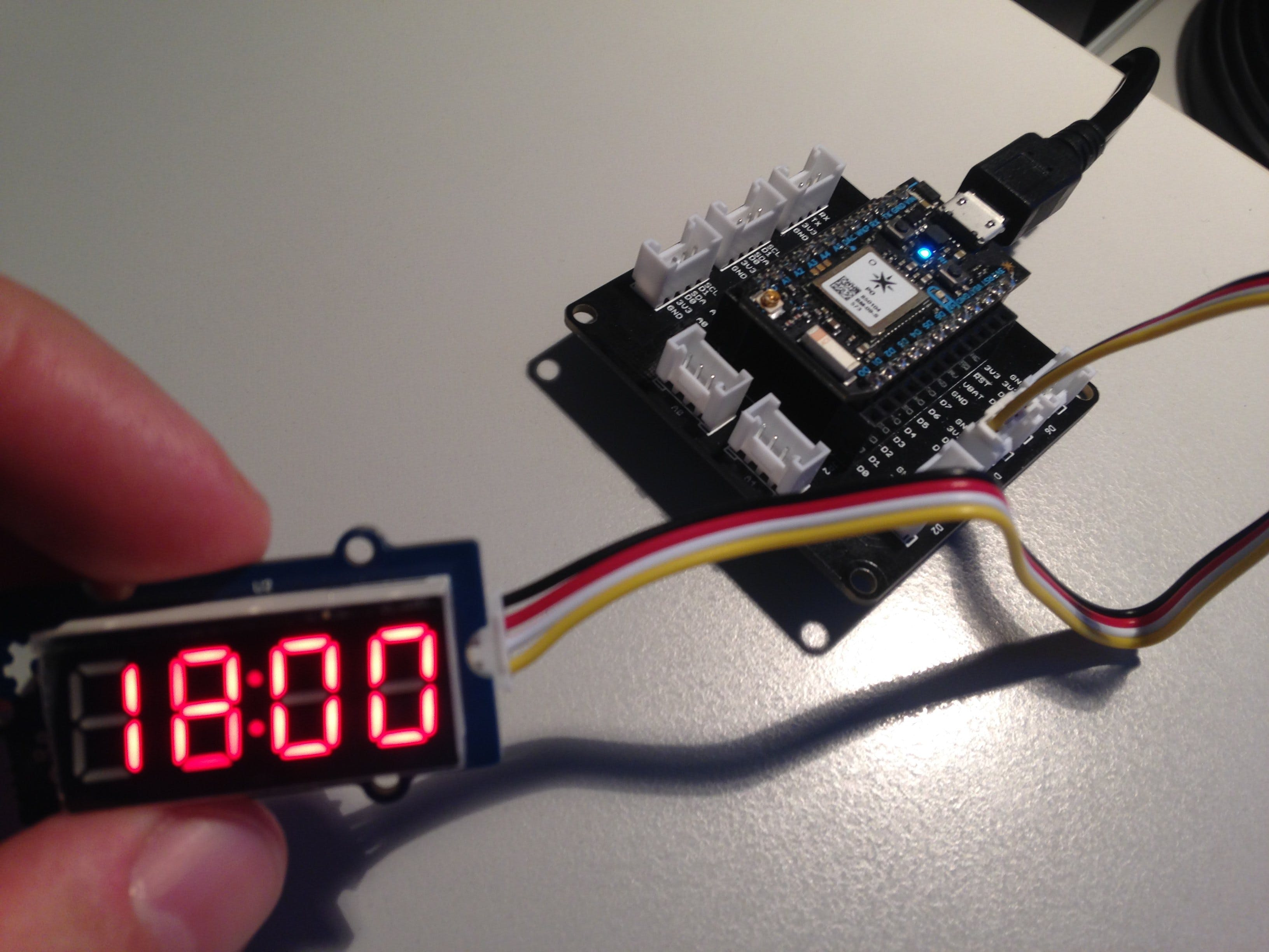 Clock - Grove 4-digit Display Using Photon