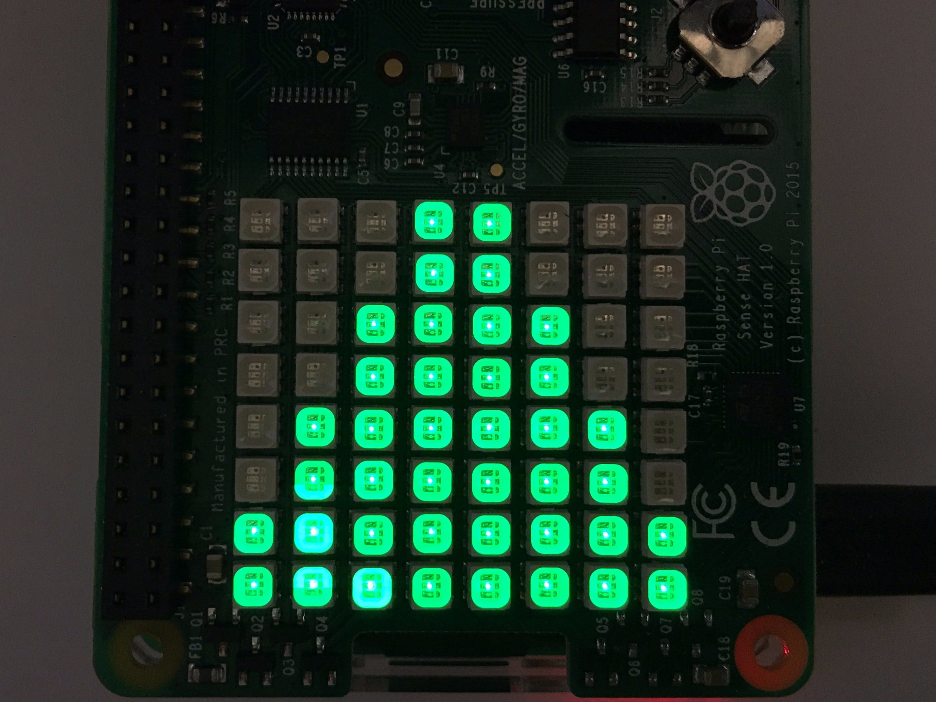 Raspberry Pi and Sense Hat Stock Symbol Price Ticker
