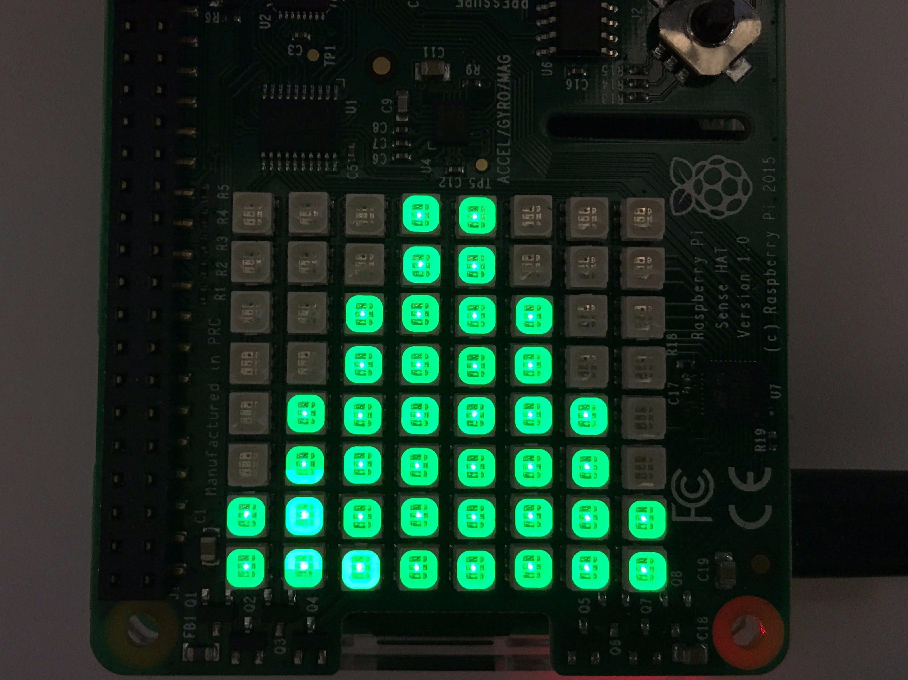 Raspberry Pi and Sense Hat Stock Symbol Price Ticker