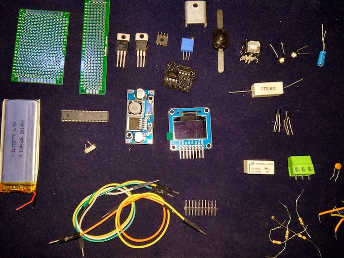 All the pieces before Soldering