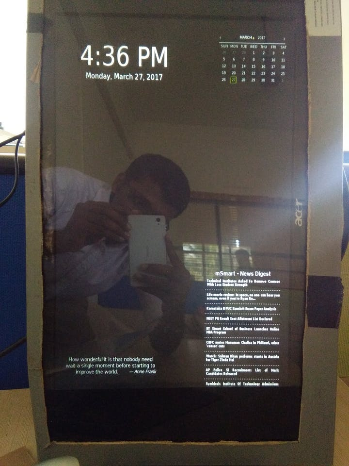 Smart Mirror with Home Automation using chats - Hackster io