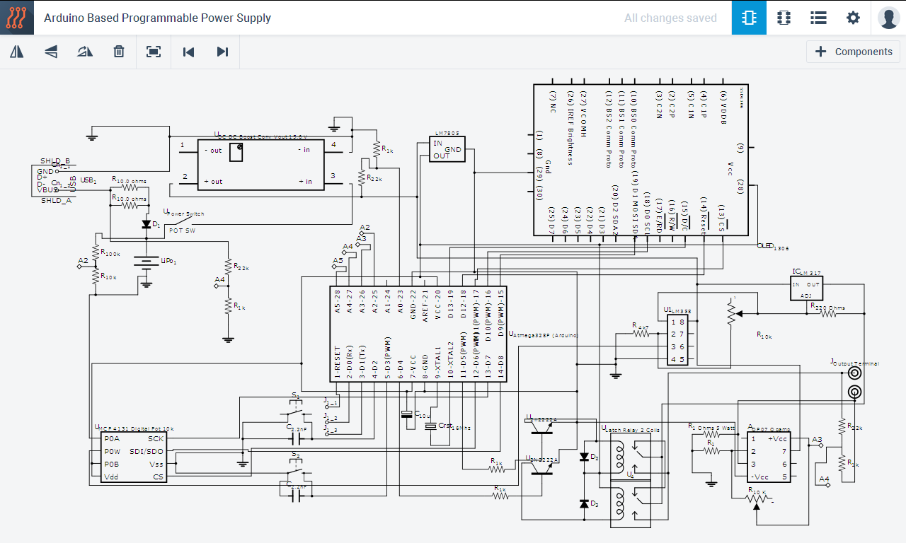 Programmable Pocket Power Supply With Oled Display Block Diagram Along An Overview Of Architectures Full Sch 07mw2tnfi9