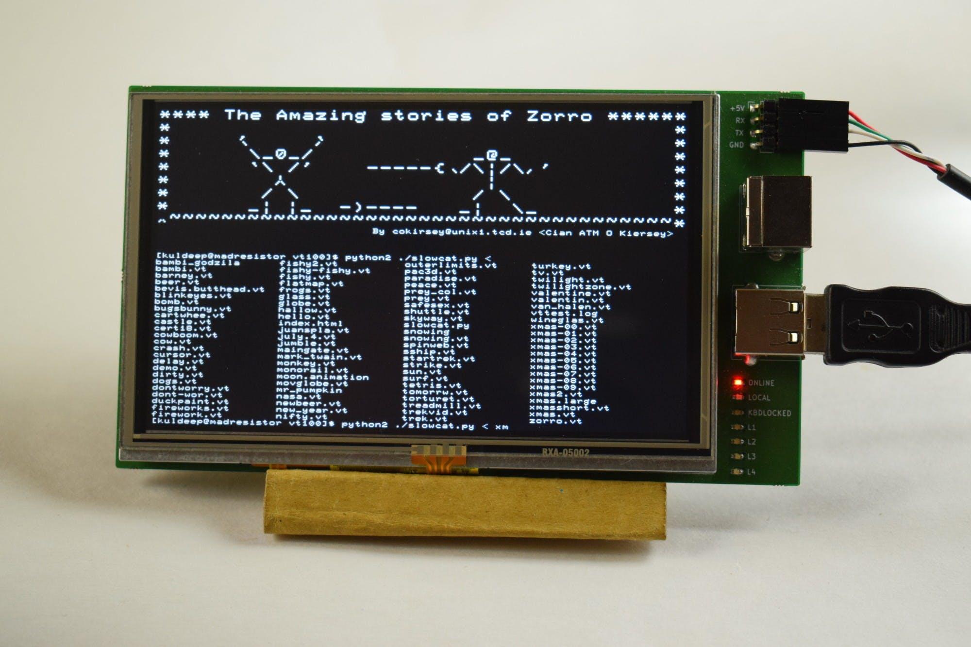 diy-VT100: A Miniature Hardware Terminal