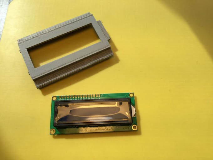 3D Printed LCD Lid by Frederick Vandenbosch