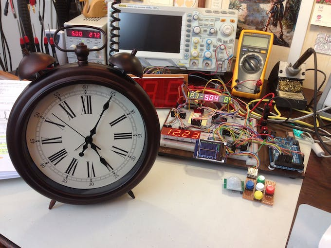 The Ikea clock: lots of room inside and a nice aluminium frame