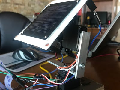 Servo-Controlled, Light-Tracking Solar Panel Platform