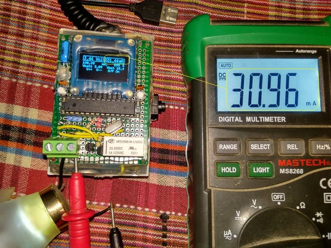 Current measurement check with external Multimeter in series