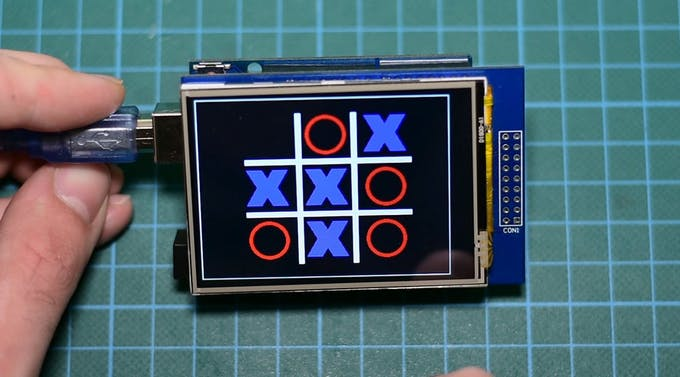 Arduino touch tic tac toe game project hub