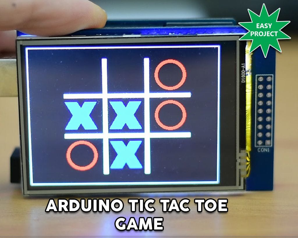 Arduino Touch Tic-Tac-Toe Game
