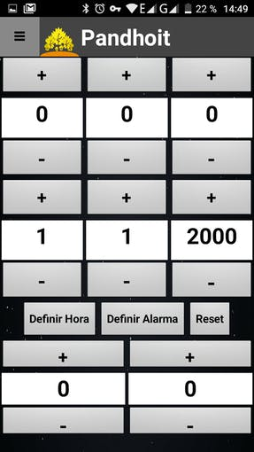 Set clock screen