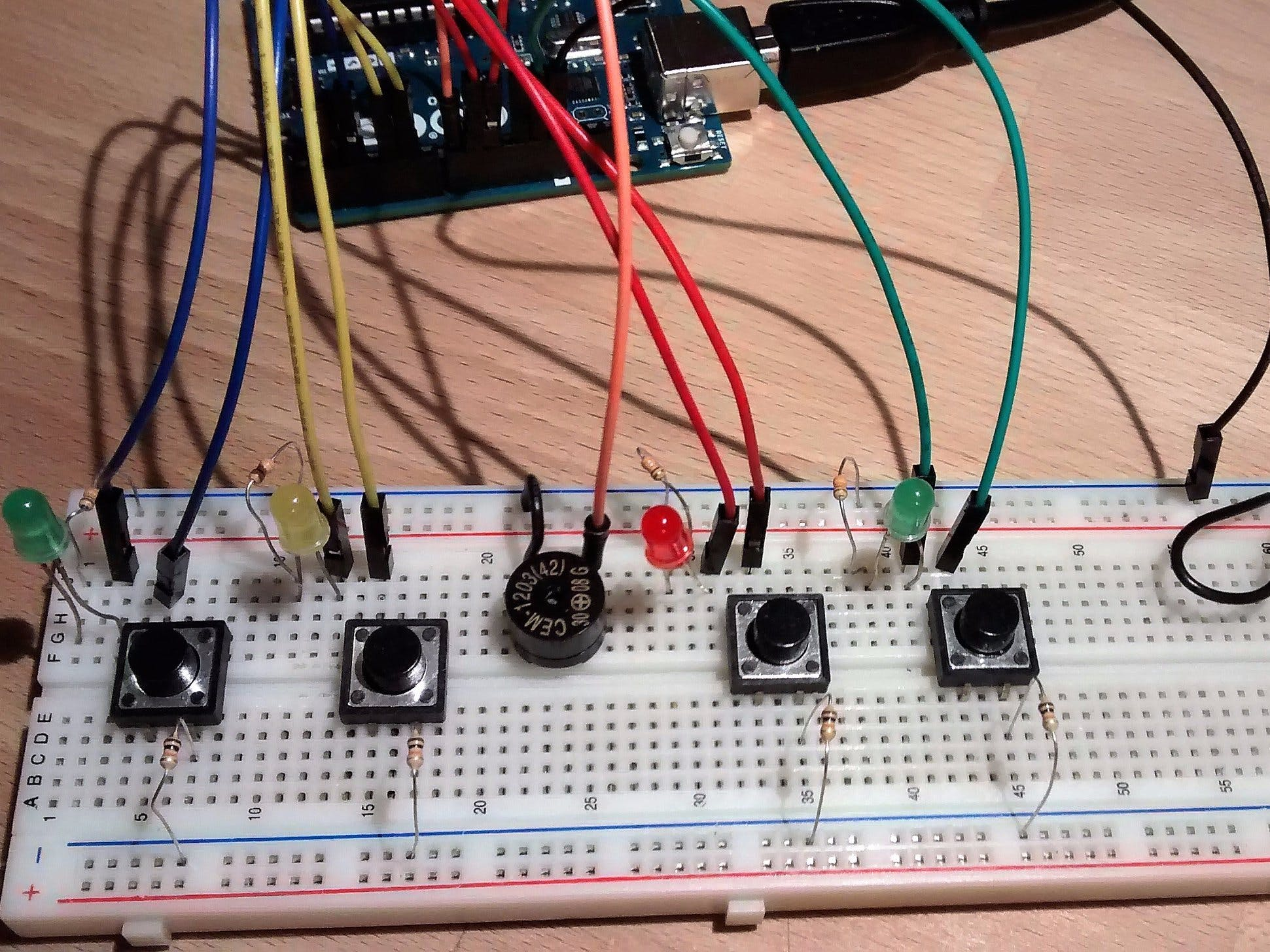 Breadboard to PCB Part 1 - Making the Simon Says Game