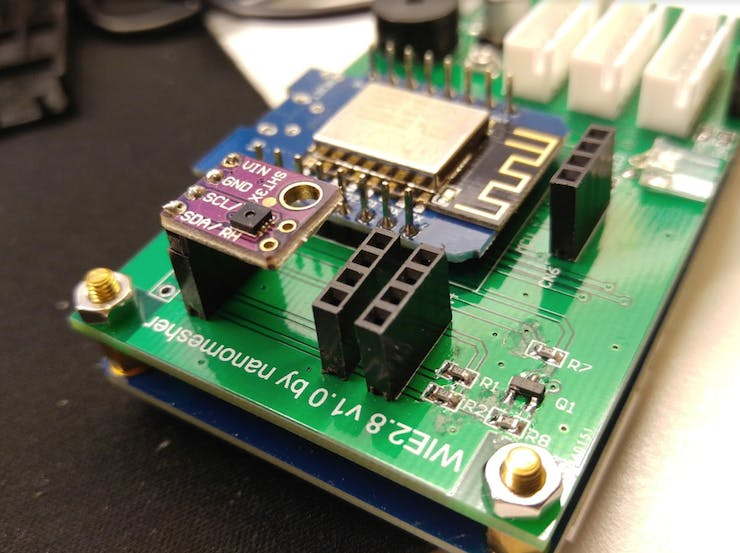 SHT31 connected to i2C port