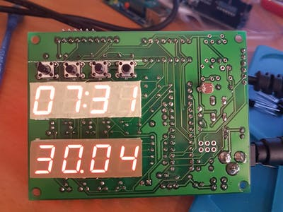ATMEGA328P 7-Segment Clock With Custom PCB V1
