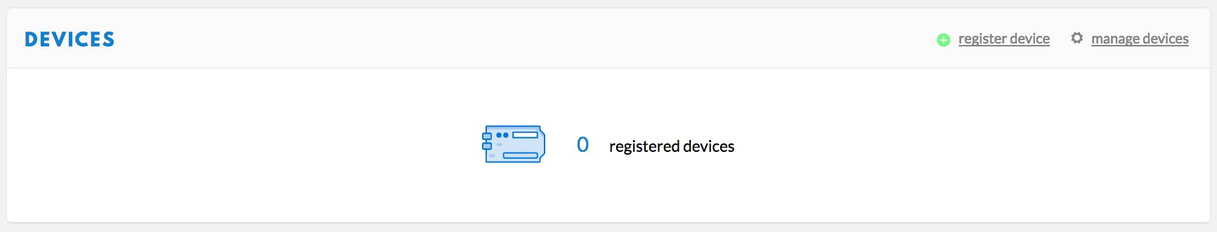 Register a device