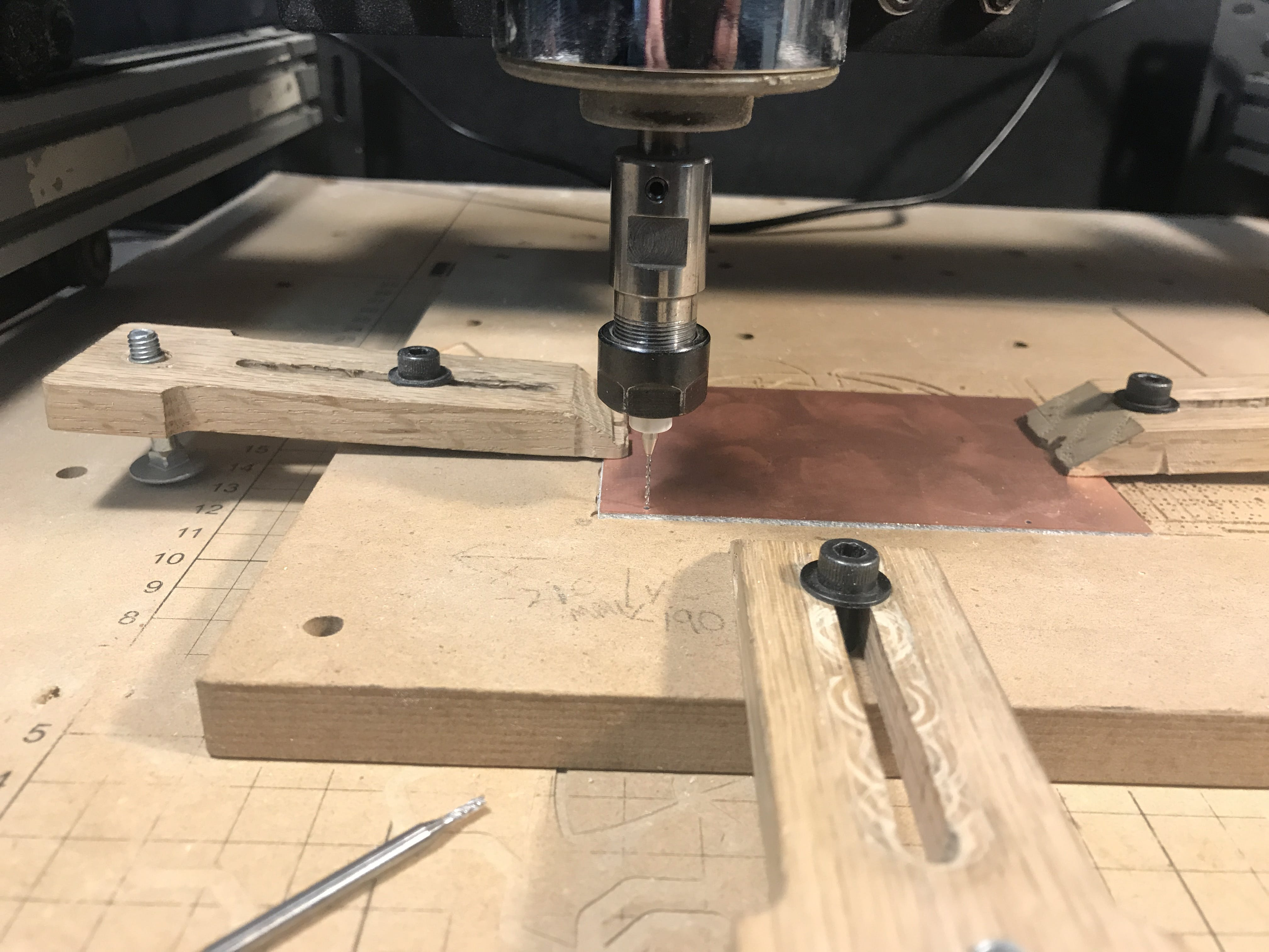 Drilling the alignment hole