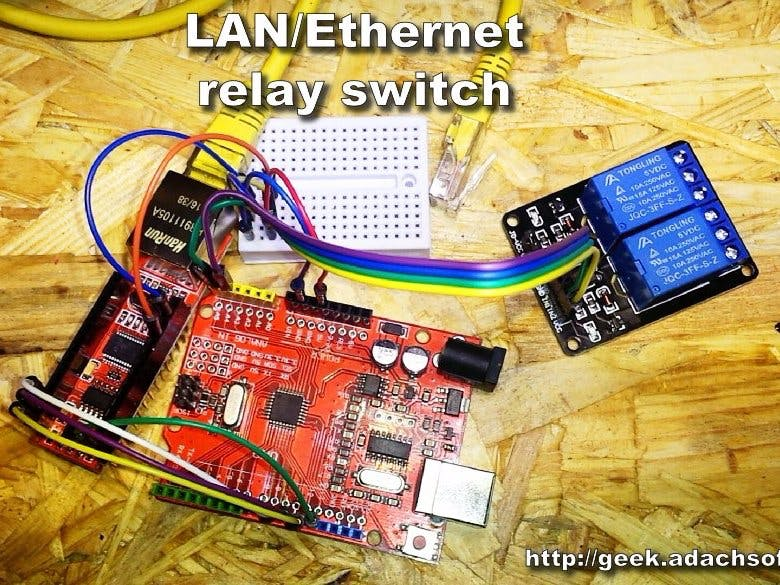 Terrific How To Make Lan Ethernet Relay Switch Using Arduino Uno Arduino Wiring 101 Akebretraxxcnl