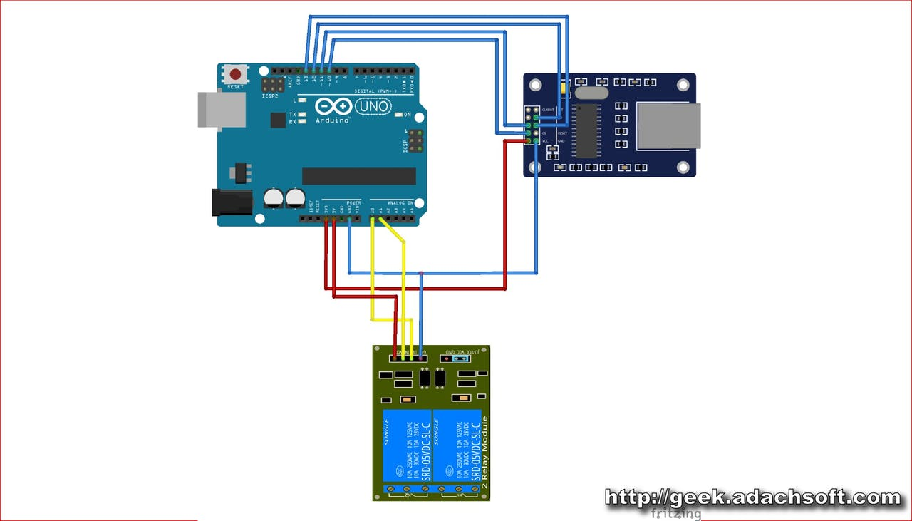 Fabulous How To Make Lan Ethernet Relay Switch Using Arduino Uno Arduino Wiring 101 Akebretraxxcnl