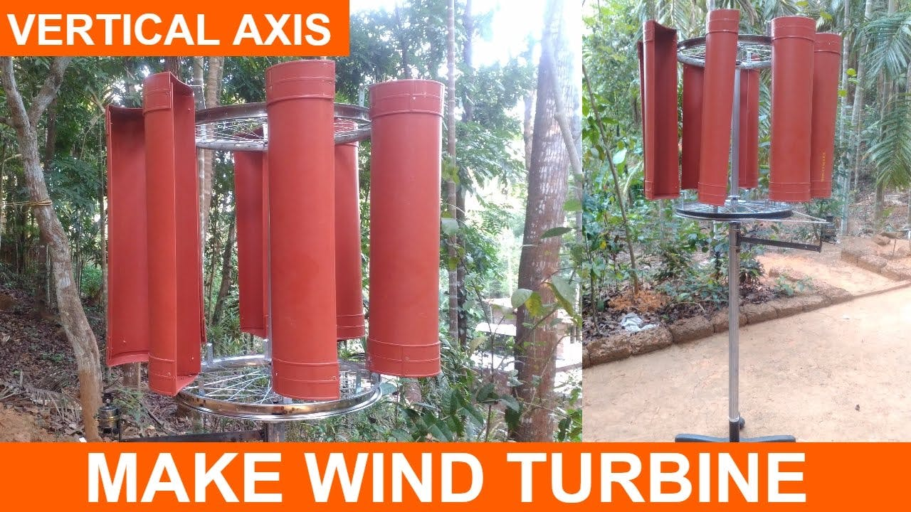 Making a Wind Turbine Project Vertical Axis DIY