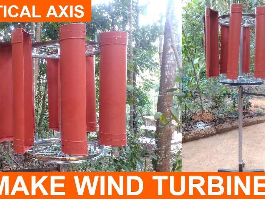 Making a Wind Turbine Project Vertical Axis DIY - Hackster io