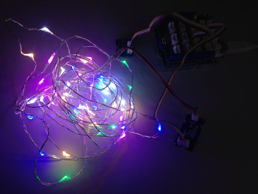 Grove - Introduction in a Button & LED String Light