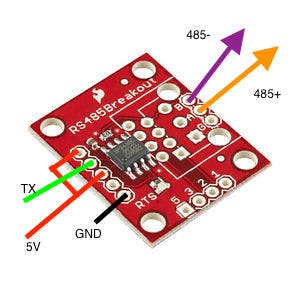 The Sparkfun RS-485 connections