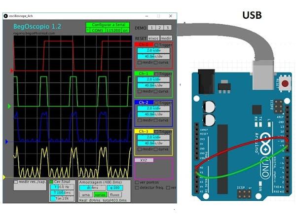 Oscilloscope arduino processing project hub