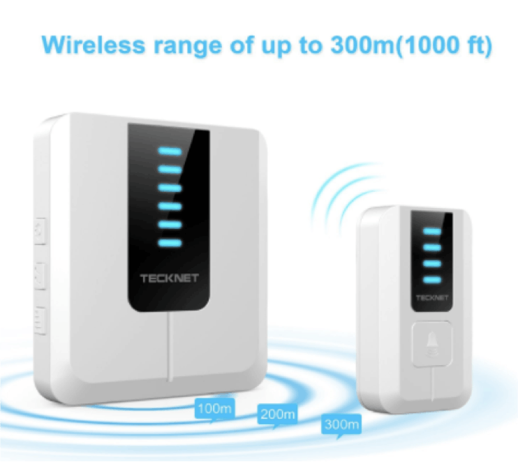 Figure 2. Wireless doorbell than transmits signals using 433 MHz RF.