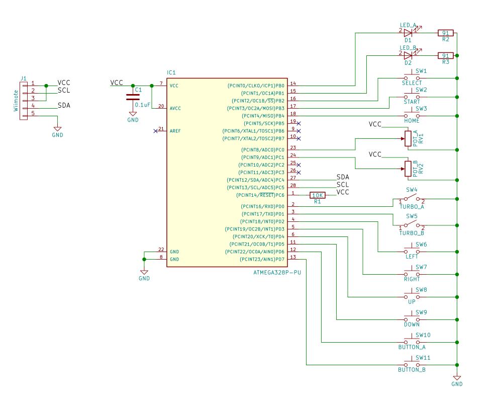 DIY NES Clic Advantage Controller - Hackster.io Nes Schematic on