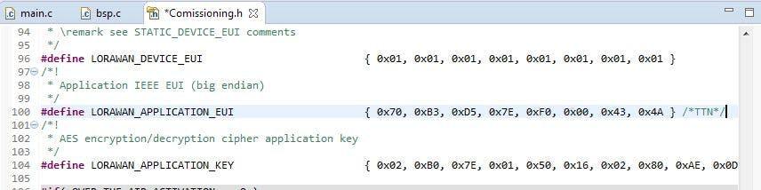 C-Code comissioning.h