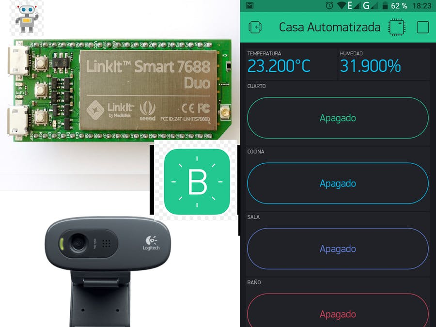 Blynk App with Linkit7688 Duo and Webcam