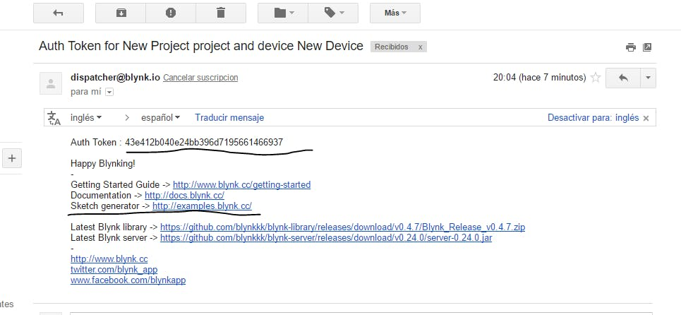 Email Blynk Example