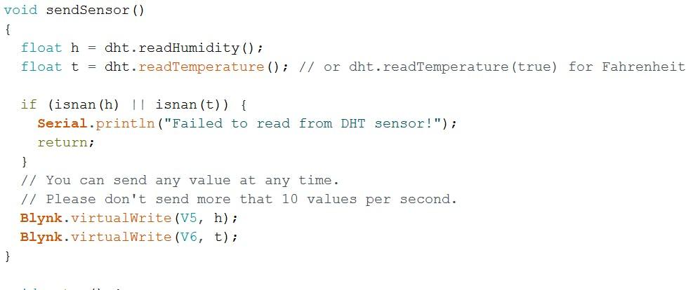 Sensor reading function