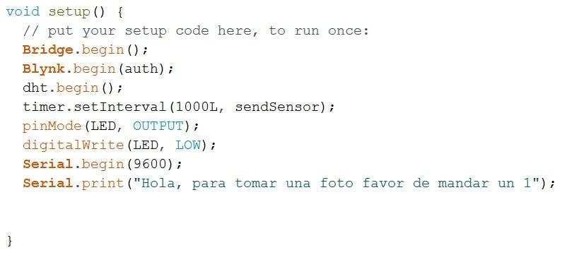 Setup function