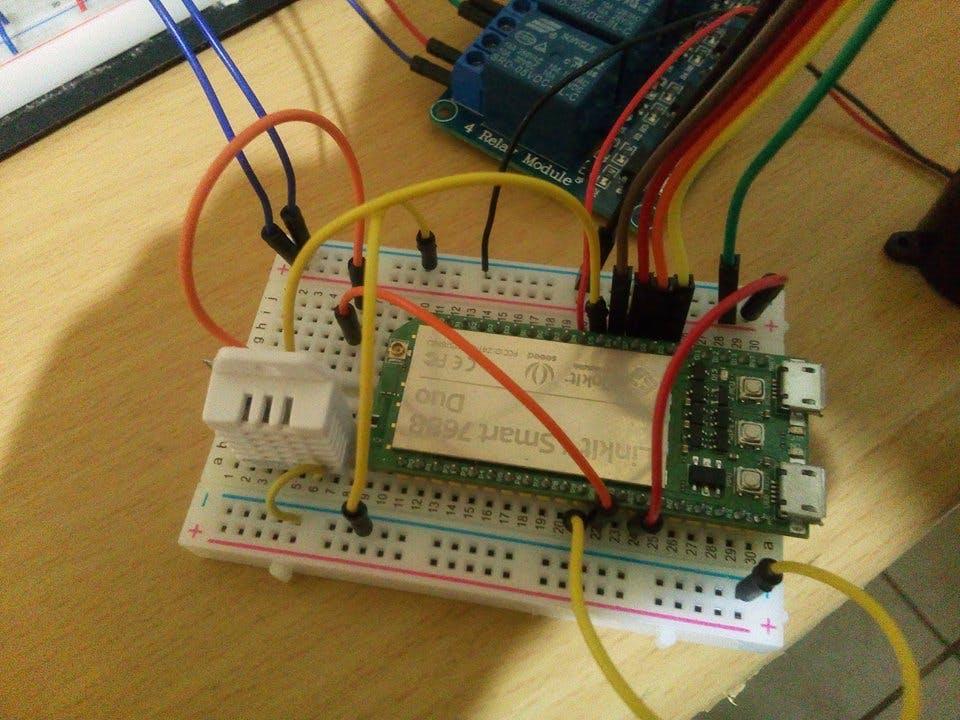 Linkit Smart 7688 Duo and DHT22 sensor