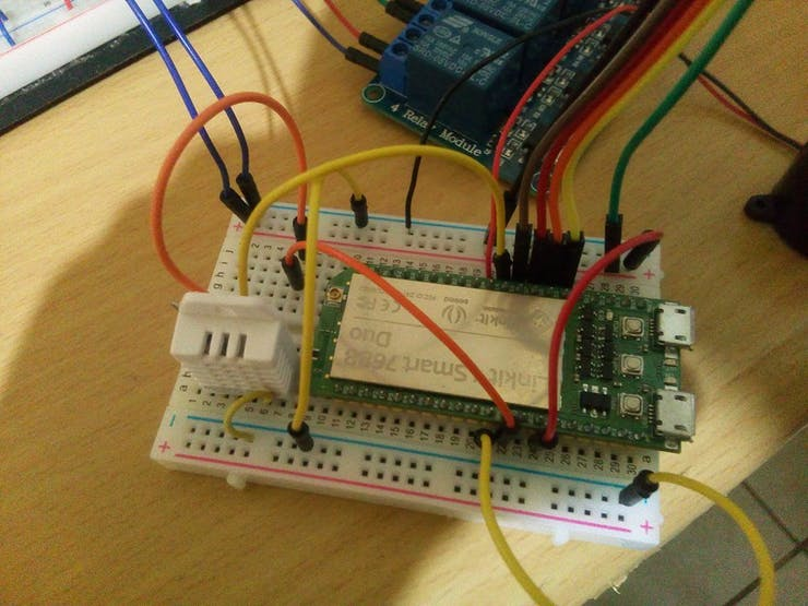 Linkit Smart 7688 Duo and DHT22 sensor