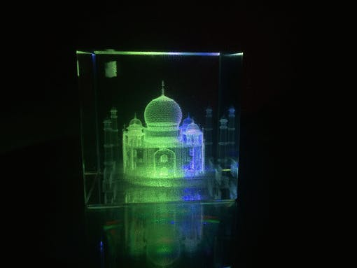 Portable LED Light Stand for 3D Crystal Laser Cube