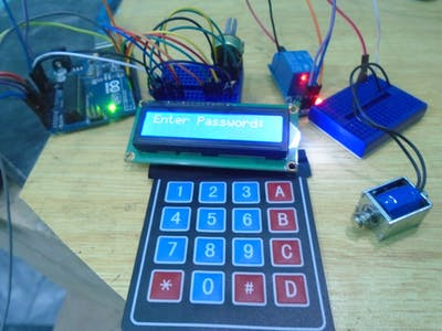 Arduino Keyless Door Lock System with Keypad and LCD
