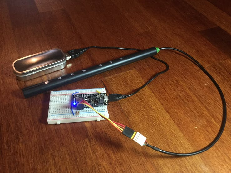 OpenPipe connected to Adafruit Feather nRF52