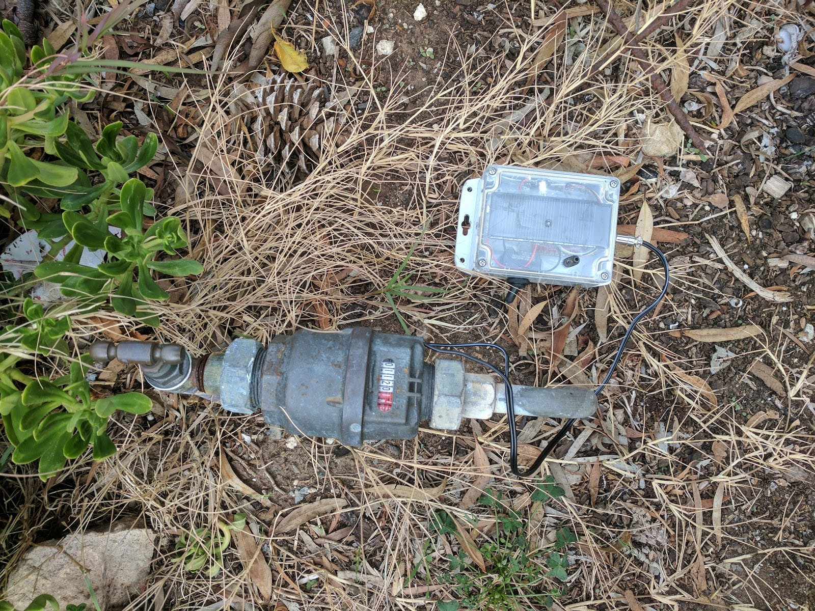Water meter pulse counter install