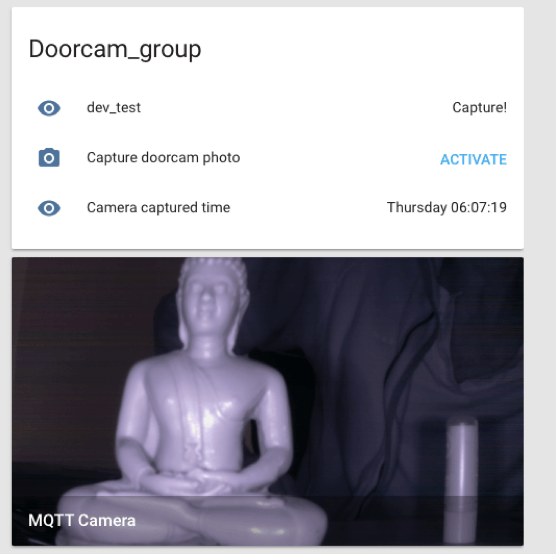 Figure 10. The doorbell camera view in Home-assistant