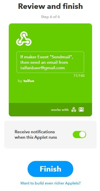 Trigger IFTTT to Send an Email Using App Inventor - Hackster io