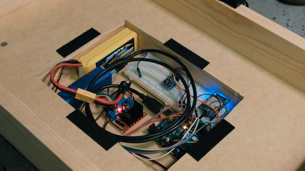 Make An Autonomous Follow Me Cooler Wiring A Motor Control Circuit Electrical Diy Chatroom Home