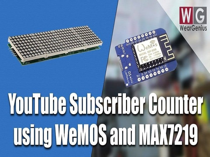 WeMOS & MAX7219 based Information Display System