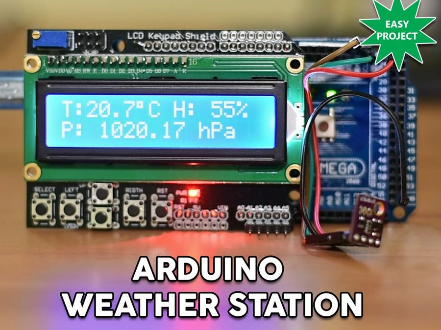 Arduino easy weather station with bme sensor hackster