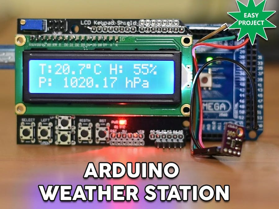 Arduino Easy Weather Station With BME280 Sensor - Hackster io