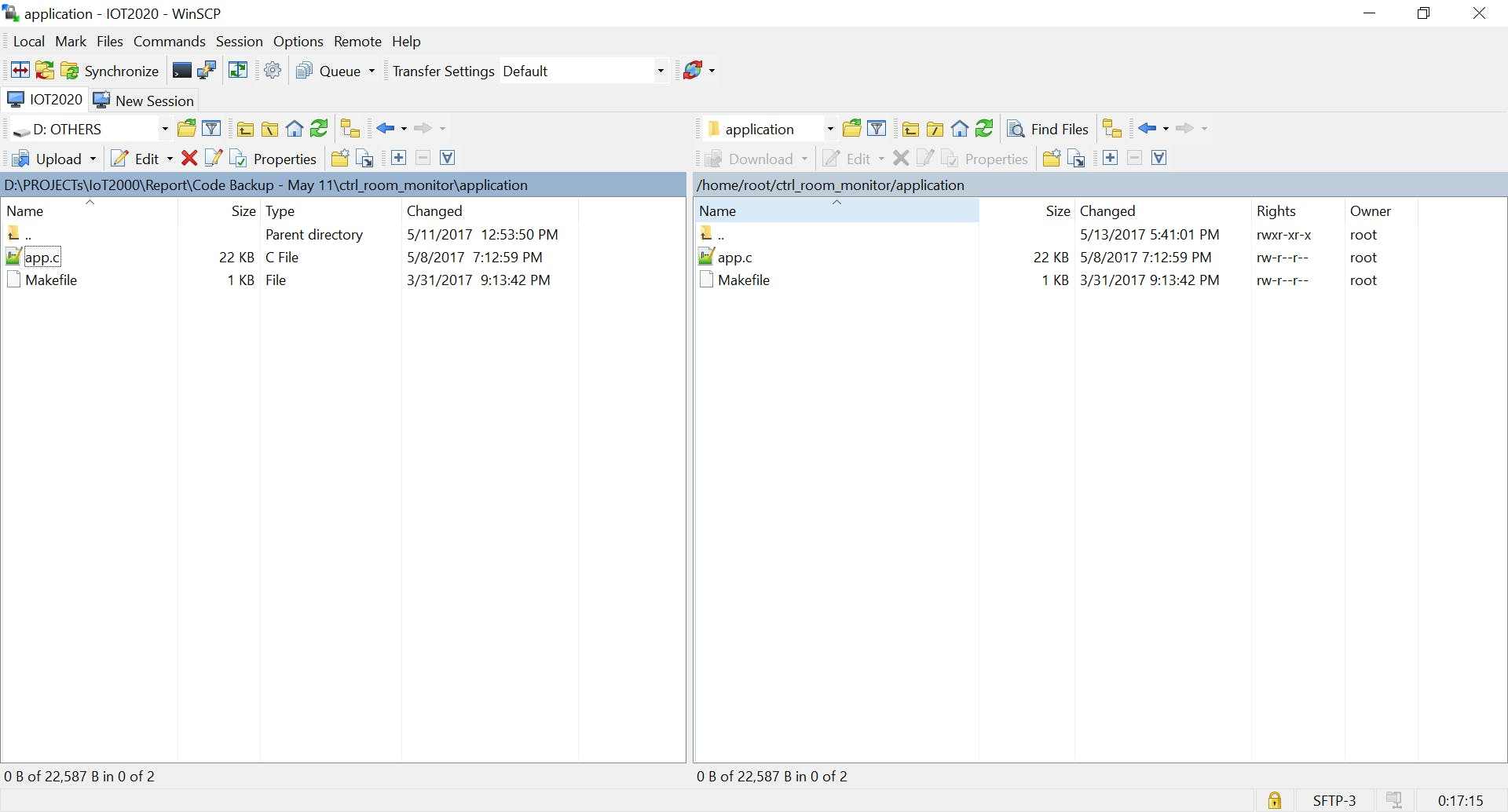 Copying application building files