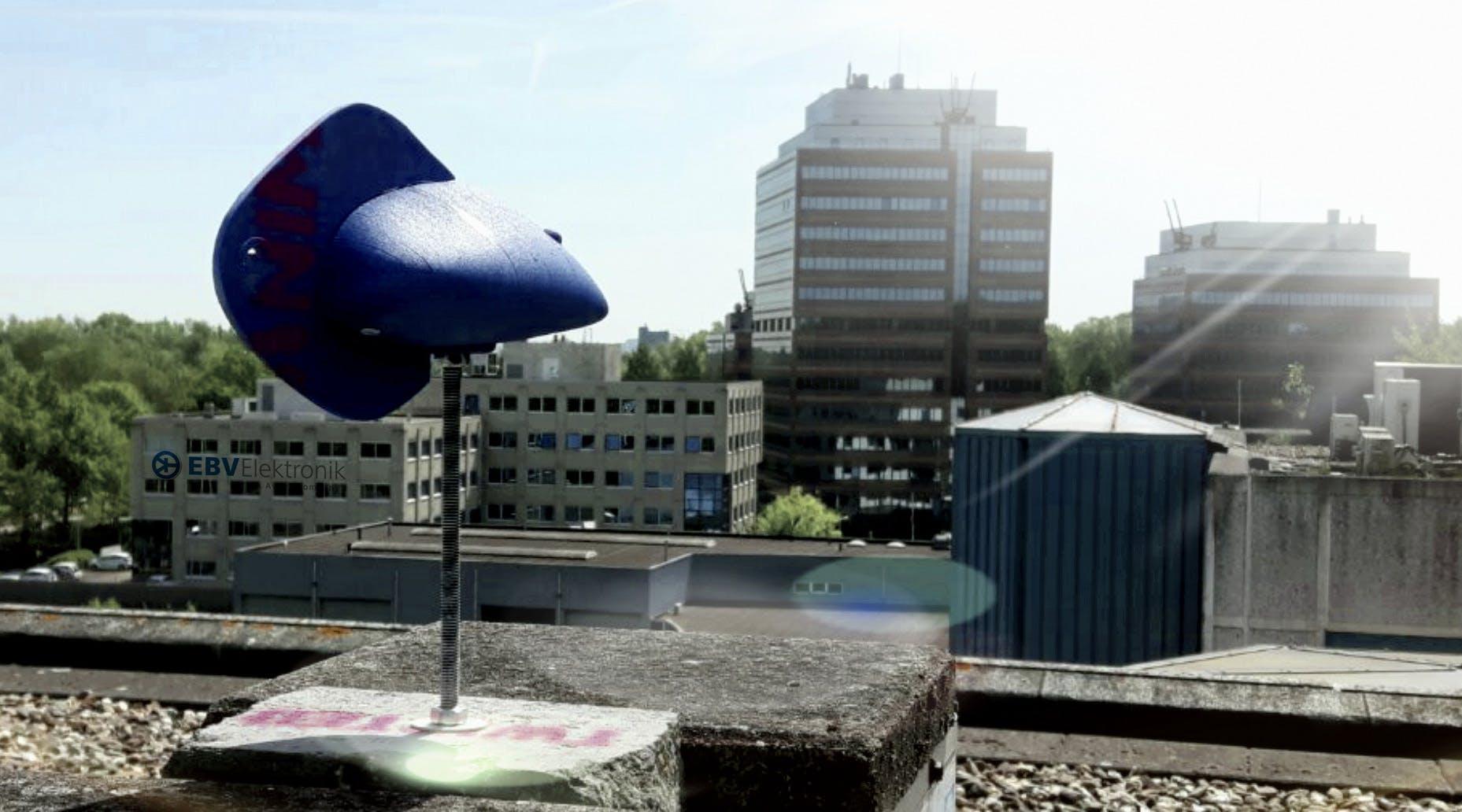 Lora WindVane V2 on top of EBV Building (+36m)